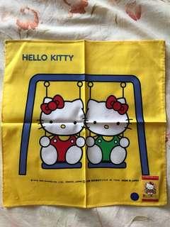 Hello Kitty 黃色手帕