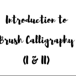NEW ADDITION OF CONTENT- Introduction To Brush Calli I and II (Full Course)