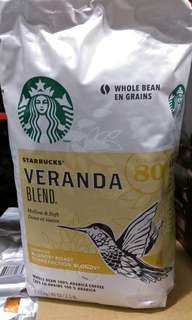 🚚 Costco代購星巴克咖啡。Starbucks Veranda Blend黃金烘培綜合咖啡豆 1.13公斤