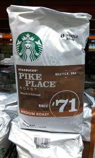 🚚 Costco代購星巴克咖啡。Starbucks Pike  Place Coffee Bean派克市場咖啡豆