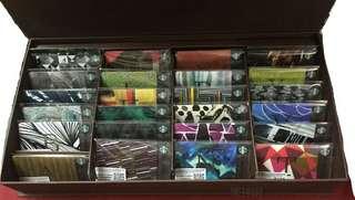 台灣 星巴克 2017 花押字母隨行套卡 26款字母禮盒組 包郵 starbucks cards
