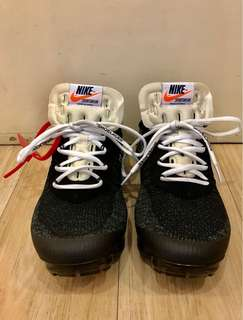 NIKE VAPORMAX/OFF-WHITE BLACK/WHITE/CLEAR