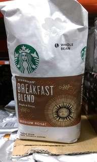 🚚 Costco代購星巴克咖啡。Starbucks breakfast blend早餐綜合咖啡豆1.13公斤
