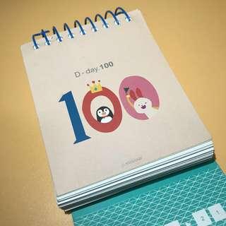 100 Days memory book 記錄簿 DIY