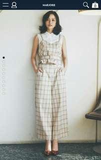 🚚 【誠徵】Marjorie 蒙布朗上衣、淡定奶茶褲S 套裝