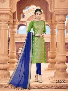 Lovable Banarasi Silk Embroidered Casual Salwar Kameez