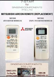 Mitsubishi Aircon Remote Control for Inverter and Non-Inverter