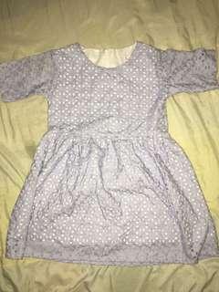 Periwinkle Eyelet Dress