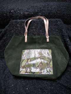 🚚 正品BRIDAS麂皮包手拿/肩背兩用包