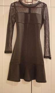 Somethung borrowed dinner ladies black dress, size xs, new
