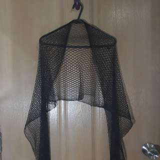 Black Net Scarf