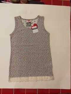 全新(包郵)日本碎花棉質背心(XS)  New Japan Style Cotton vest