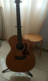 Taylor 114ce Grand Auditorium acoustic electric guitar with bag