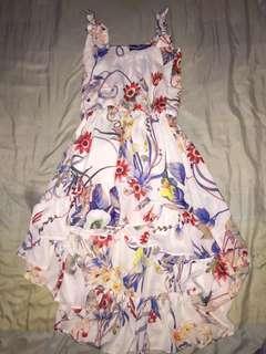 Vintage Floral Hi Lo Dress
