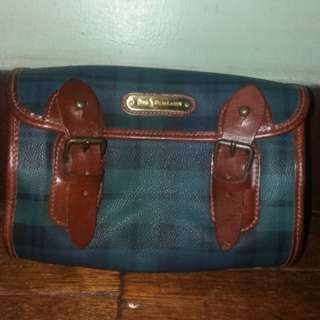💯original ralph lauren rl plaid pouch hand bag