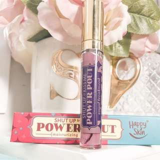 Happy Skin Shut Up and Kiss Me lipstick • Powder Pout Moisturizing Lip Lacquer • Shade Royal Treatment