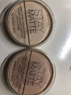 Rimmel Stay Matte pressed powder - 001 & 005
