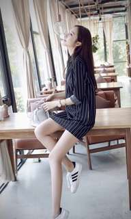 Ulzzang Black Dress Skirt