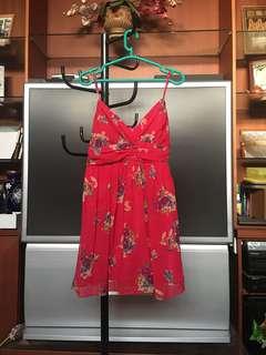 FOREVER21 Fuschia Chiffon Dress