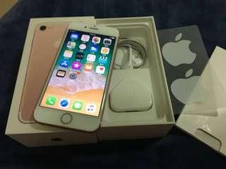 iPhone 7 128gb 98%新 玫瑰金 rose gold 亮黑