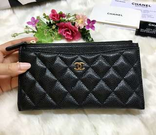 🎈New Chanel Classic Quilted 薄長銀包