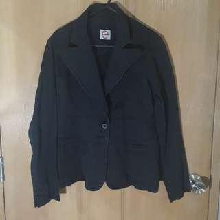 Black Denim (ish) Jacket/Blazer