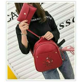 2 in 1 Korean Backpack