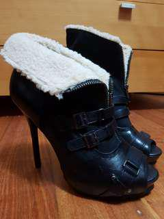 Aldo boots with heels (wool lining)