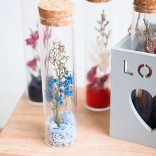Dried/Preserved Flowers in Glass Bottle