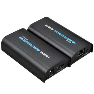 783. Mirabox HDMI Extender Over TCP/IP Rj45 Cat5/5e/6/6e UTP/STP Ethernet Lan Switch Network Support 400ft 1080P Cat6 to HDMI, Black (HSV373 A Pair)