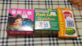 Flash cards/ toddler book - All for 12