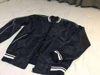 Sideway Varisty Jacket Blue
