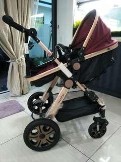 Stroller with bassinet