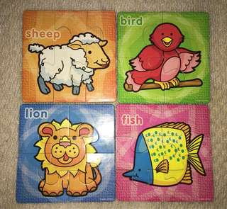 Animal Puzzle Set for Toddlers