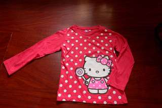 Hello Kitty polka dot long sleeve