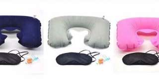 Inflatable Neck Pillow Set