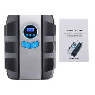 784. 12V Electric Car Air Compressor LED Portable Digital Pump Inflator Tyre Tire
