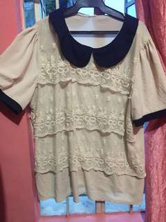 Cream top up to 3xl