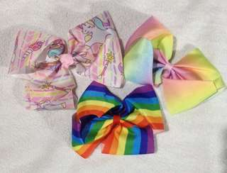 Jojo Siwa Inspired Big bows clip 3 for 400