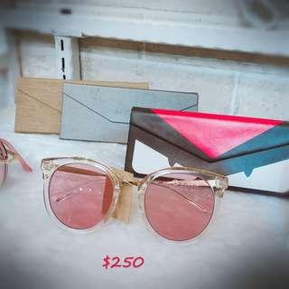 🚚 現貨粉色鏡片墨鏡🕶️抗UV400