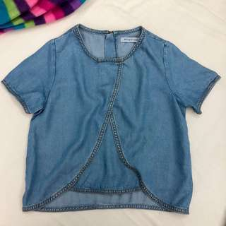 Gingersnaps Soft Maong Blouse Size 10 for Girls