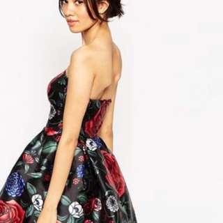 CHI CHI LONDON SAMANTHA DRESS (Black Floral)