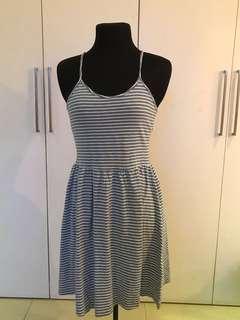 Sky blue halter dress