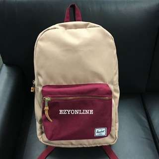 Original Herschel Settement Beige and Maroon Color