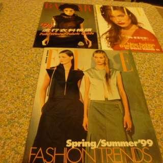 (二手) Elle (1996 & 1999) 及 Bazaar (1998) 時裝書-==