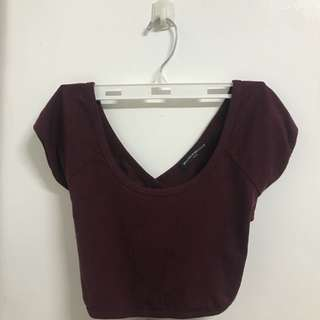 Maroon cross back Brandy Melville Crop Top