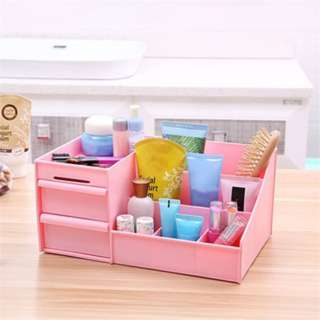 (972)PP Plastic Waterproof Cosmetics Drawer Type Women Makeup Storage Box