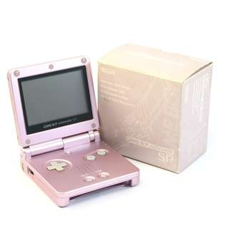 (with BOX) Nintendo Gameboy Advance SP Launch Edition Pearl Pink Handheld System
