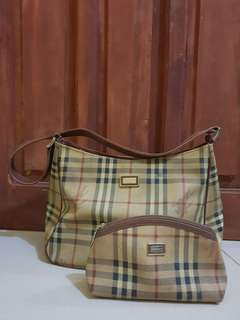 Burberry Hand Bag with Coin Purse