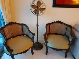 British colonial arm chairs